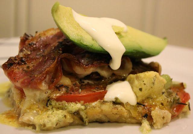 Kjøkkenkroken: Pizza med kylling, mozzarella og bacon