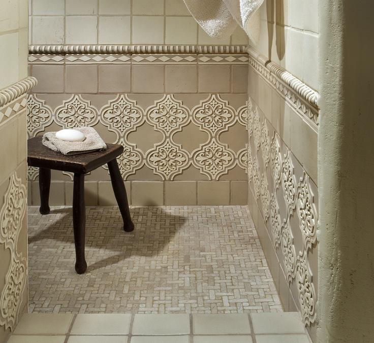 Beautiful Classic Beige Terracotta Shower. #bathroom #tile #CCC