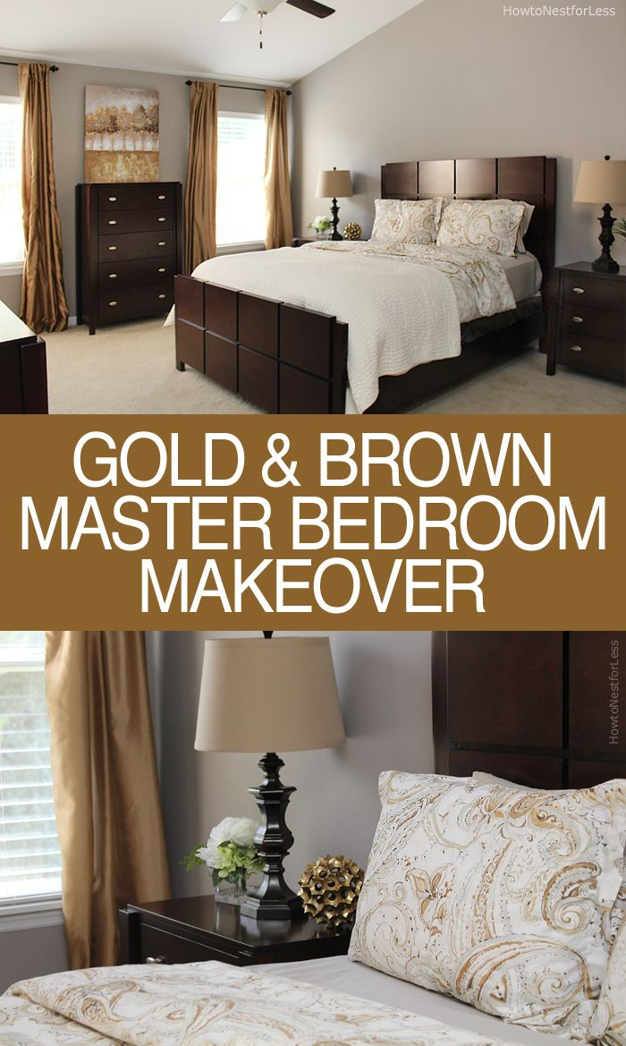 Bedroom color schemes gold - Brother S Master Bedroom Makeover