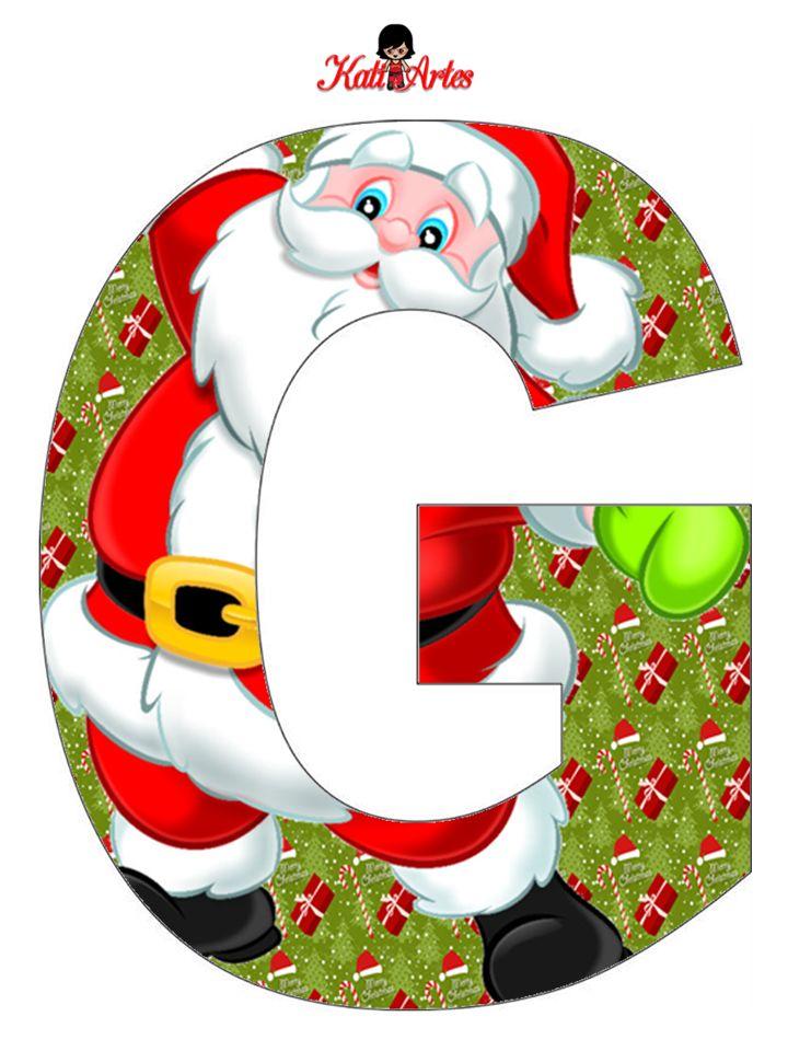 Eugenia katia artes blog de letras personalizadas e algumas coisinhas natal alfabeto noel - Sobre de navidad para imprimir ...