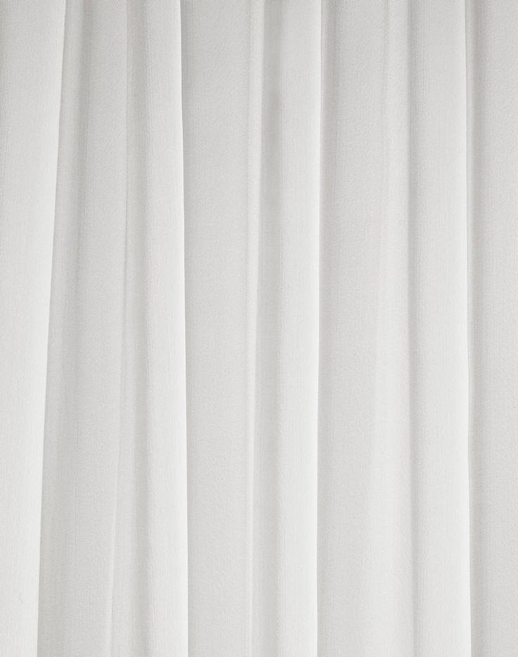 White Textured Curtain Material Curtain Menzilperde Net
