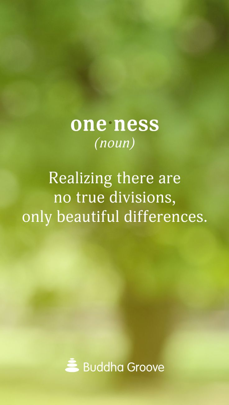 Oneness: Realizing there are no true divisions, only beautiful differences.