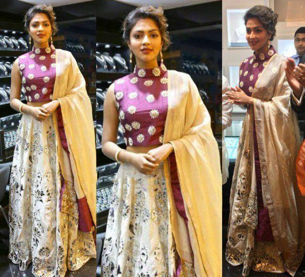 Amala Paul's Ethnic Look in Yogesh Chaudhary Creation