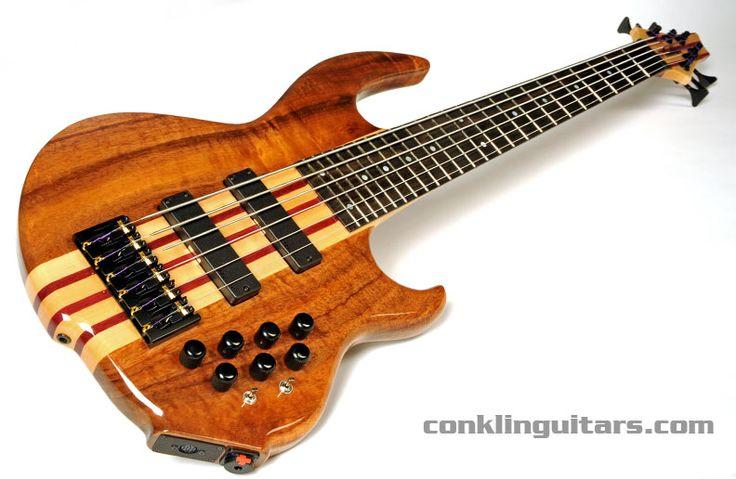 custom bass guitars conklin custom shop 6 string bass guitars conklin deadly pinterest. Black Bedroom Furniture Sets. Home Design Ideas