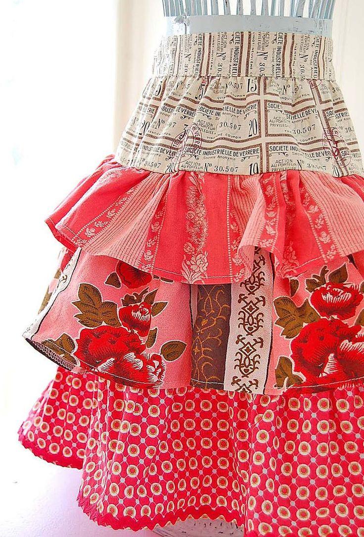 cute ruffled apron
