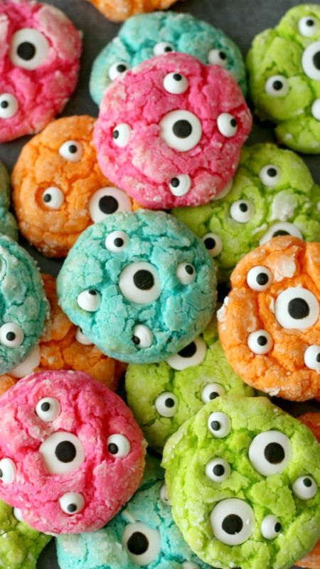 Gooey Monster Eye Cookies Recipe- total fail, batter is nasty, they burn before theyre cooked through. Eyes wont stay on the cookies. FAIL