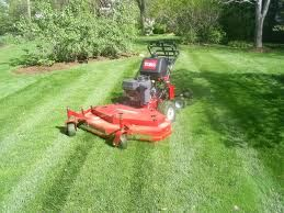 Mulching lawn mowers are designed in such a way that they leave behind finely shredded grass clippings, such clippings can be left on the lawn with impunity.  By contrast, because lawn mowers without mulching capabilities produce clipping that are bulkier and readily mat together, their clippings need to be removed from the lawn so that the grass doesn't suffocate under them.