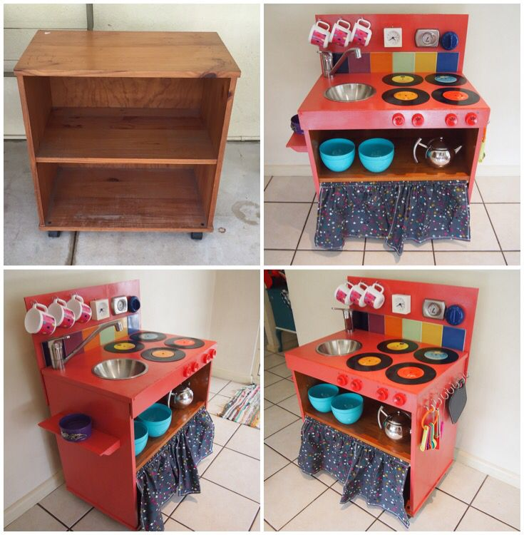 DIY Kids Kitchen. Before And After