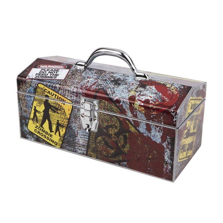 Sainty International 16 in. Zombie Art Tool Box, Multi-Colored