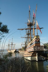 At Jamestown Settlement, prepare to embark on a journey to 17th-century Virginia. The world of America's first permanent English colony, founded in 1607 – 13 years before the Pilgrims landed in Massachusetts, comes to life through film, gallery exhibits and outdoor living history.