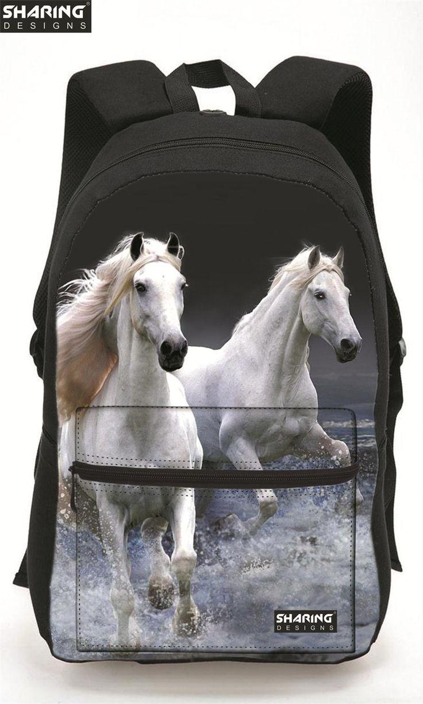$39.99 (Buy here: https://alitems.com/g/1e8d114494ebda23ff8b16525dc3e8/?i=5&ulp=https%3A%2F%2Fwww.aliexpress.com%2Fitem%2FLarge-Capacity-3D-Horse-Print-Laptop-Backpack-Cool-Children-Animal-School-Bags-For-Girls-Boys-Bagpack%2F32707931557.html ) Large Capacity 3D Horse Print Laptop Backpack Cool Children Animal School Bags For Girls Boys Bagpack Bolsas Mochilas Femininas for just $39.99