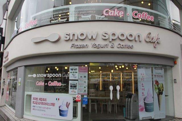 Snow Spoon Café in Hongdae, Seoul.