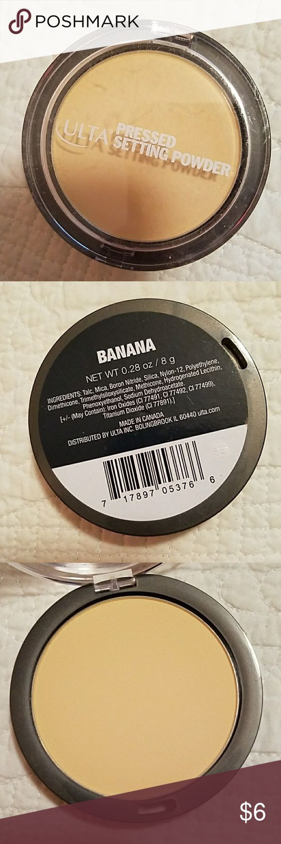 Ulta Pressed Banana Setting Powder new only tried once ulta Makeup Face Powder