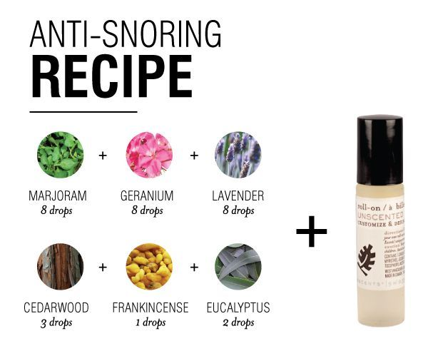 Stop Snoring Blend with essential oils. Mix recipe in a 5ML bottle. When creating a roller bottle, add an appropriate dilution amount (1%-5%) of the Stop Snoring Blend and top with carrier oil.
