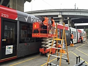 Tram wrapping - TORCH NSW