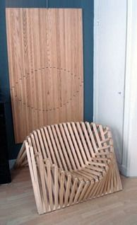 Flat folding bamboo chair design - ideal for those tight spaces+