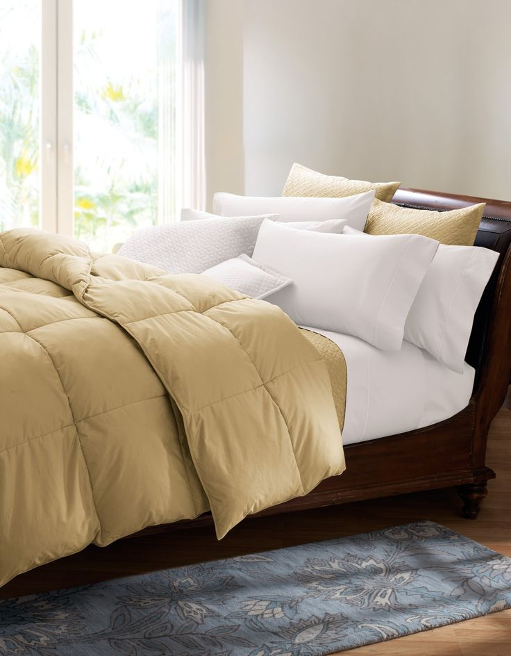 amazoncom cuddledown 400 thread count colored down comforter over size queen - Down Comforter Queen
