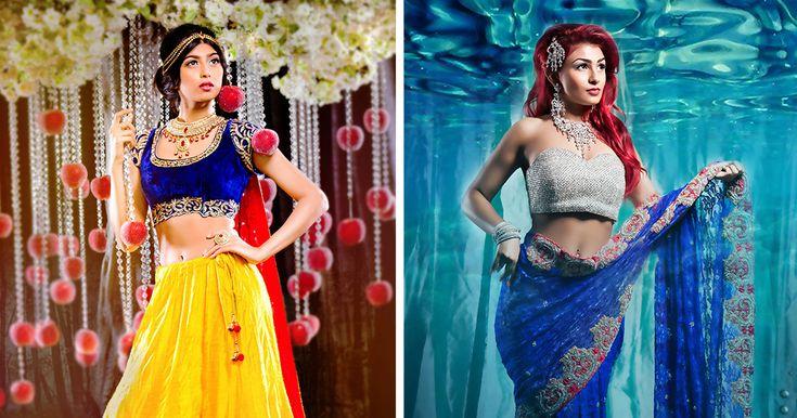 I Reimagined 9 Disney Princesses As Indian Brides | Bored Panda