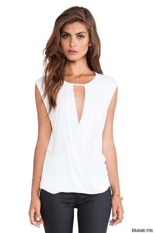 Blusas sin mangas de moda casual elegante verano 2014 – 21