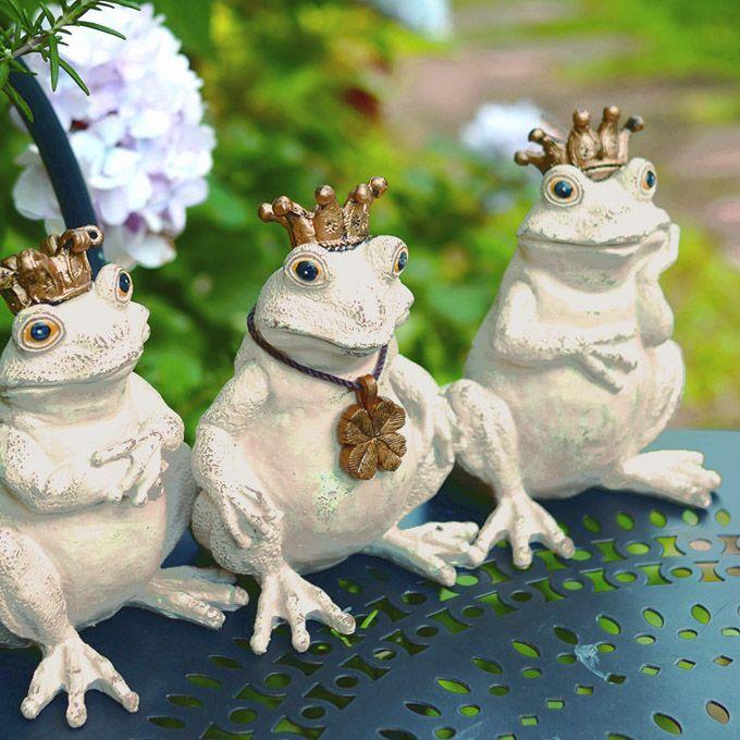 楽天市場】アンティーク調ガーデンオーナメント 王冠をかぶったカエル ... アンティーク調ガーデンオーナメント 王冠をかぶったカエル 3匹セット /ガーデン/オーナメント