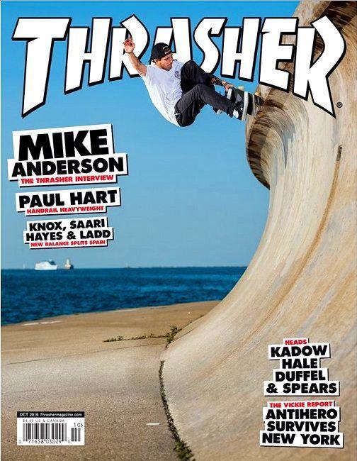 THRASHER Magazine October 2016 MIKE ANDERSON Cover, Paul Hart, Knox, Saari