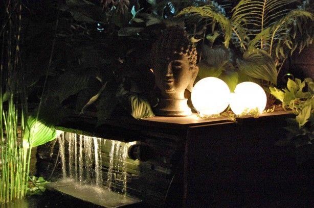 Glowing Outdoor Orbs