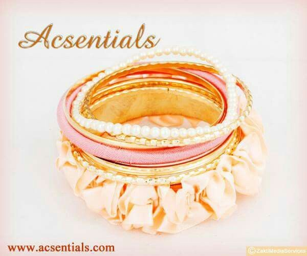 #acsentials #accessories #bangle #girlsstuffs #trendy #shopon #Stylish #Style #Pearls #Pink #Bracelet #Fun
