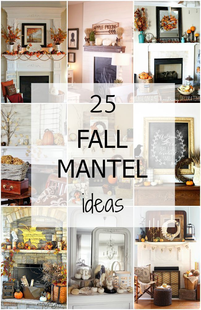 25 of the BEST Fall Mantel Ideas via A Blissful Nest