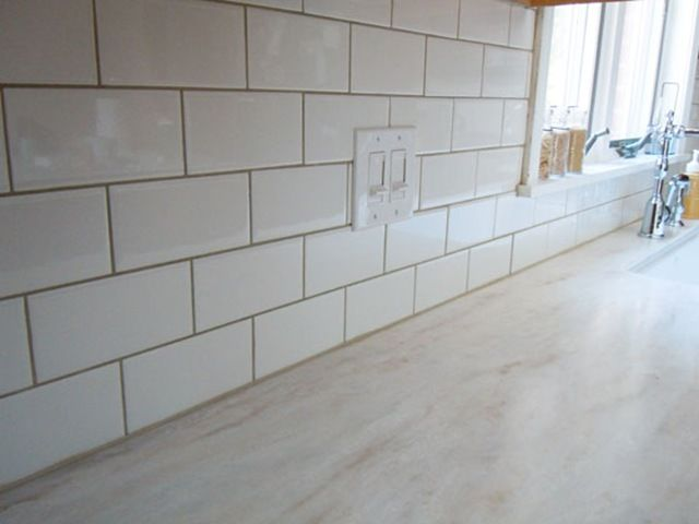 choosing grout colors for white subway tile - White Subway Tile Backsplash