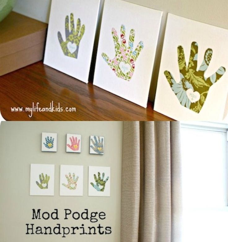 This mother's day craft for kids is one that you can treasure year after year - use these cute handprint canvases to measure the growth of your children!
