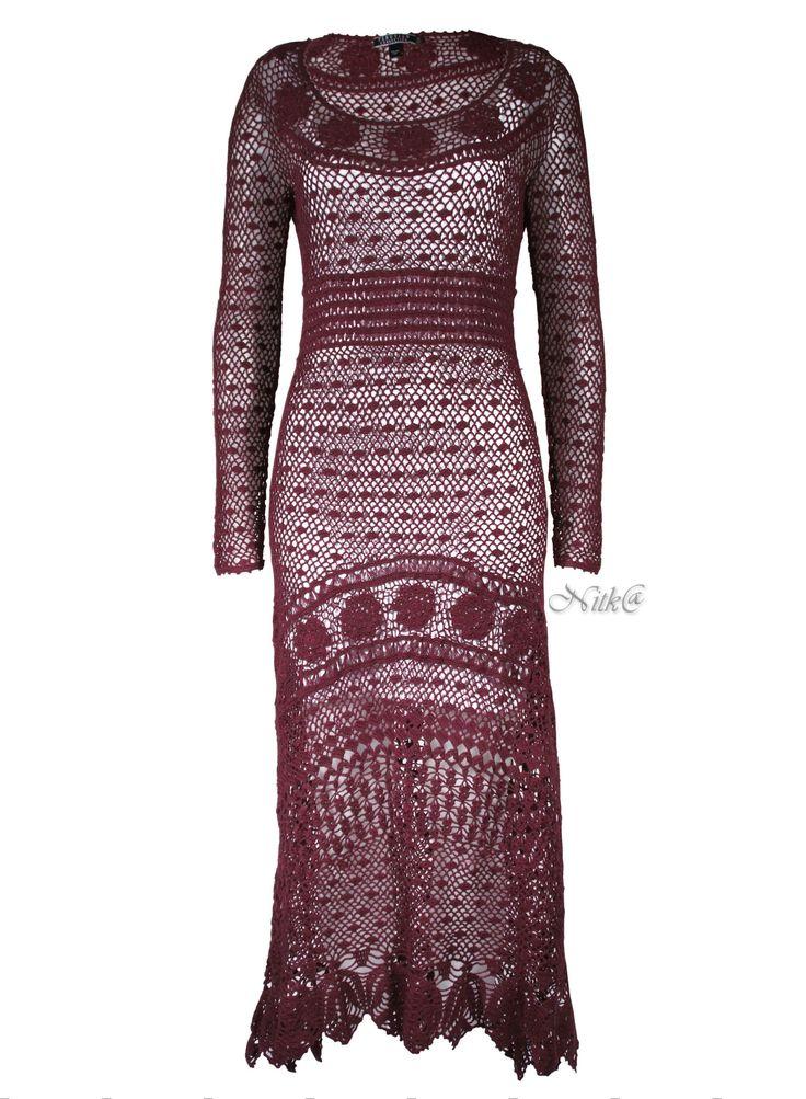 Летнее платье крючком. Перуанская коллекция осень 2014. Sybil Pima Cotton Crochet Dressс. Peruvian connection. Collection 2014. #crochet_maxi_dress #crochet_summer_dress
