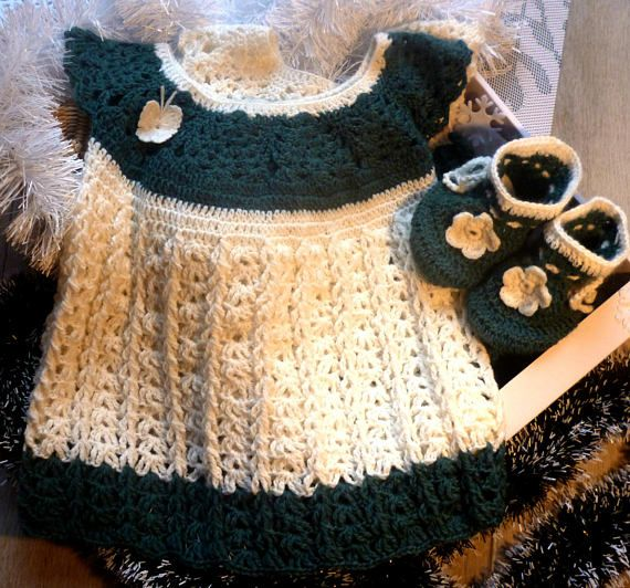 Complete Baby Set Crochet Baby Dress Outfit Coming Home Dress