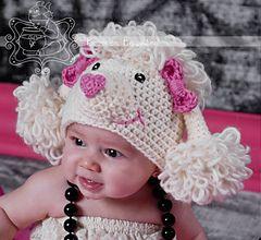 Paris the Poodle hat cap bonnet beanie crochet pattern NOW FREE!