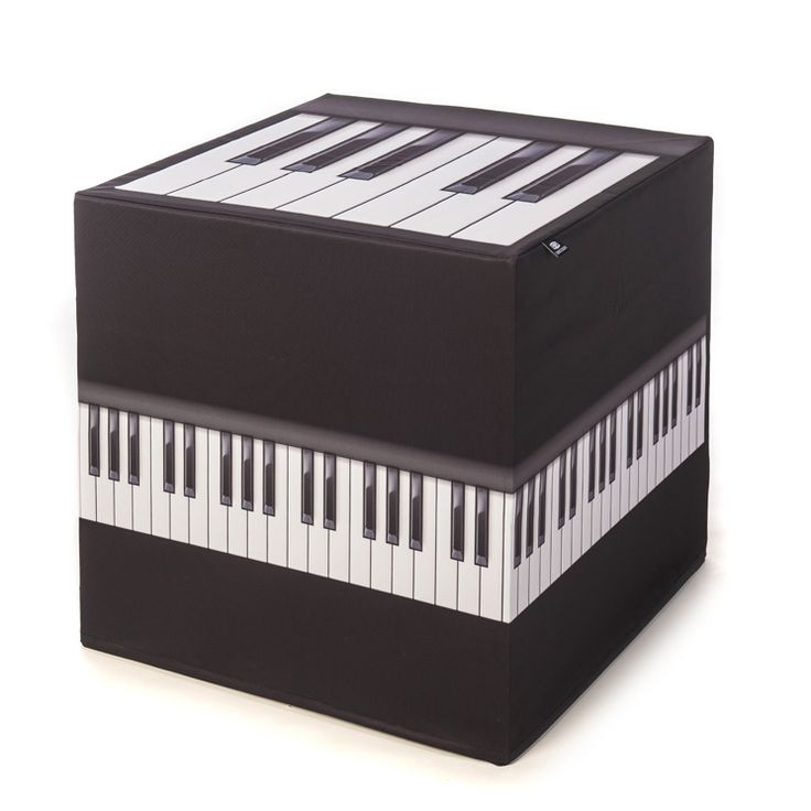 """CUBUS CULTUS """"Klavier"""" Hocker mit Klaviertastenaufdruck, für Tastenfans!"""
