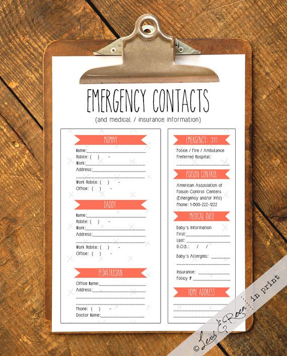 Mer enn 25 bra ideer om Emergency contact form på Pinterest - emergency contact forms