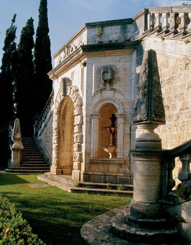 giardini di Villa la foce, chianciano terme, Siena