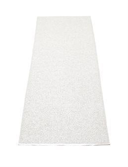 Svea-matto valkoinen metalliväri - 70x240 - Pappelina