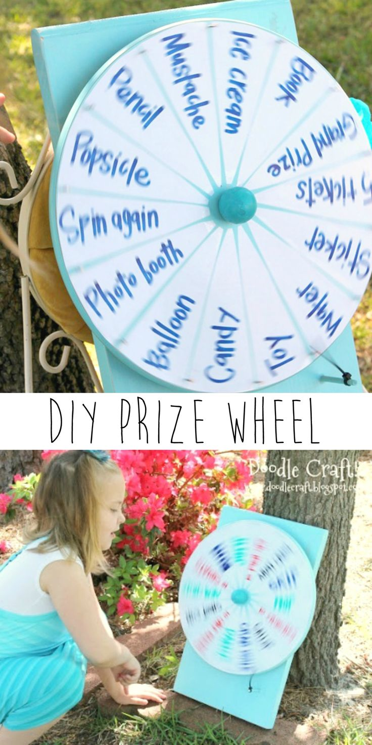 DIY Spinner Prize Wheel by Doodle Craft using an IKEA lazy susan - great for parties, events, chores, etc.