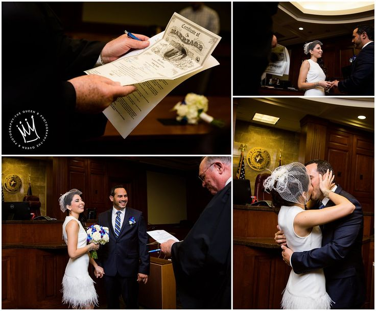 Houston Wedding Photographer | The Queen B Photography | Fort Bend County Justice Center | Courthouse Wedding Ceremony| Bride and Groom