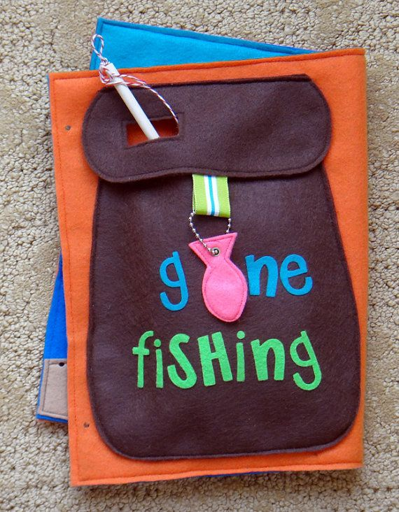 Kit for Gone Fishing Magnetic Felt Game by LindyJDesign on Etsy