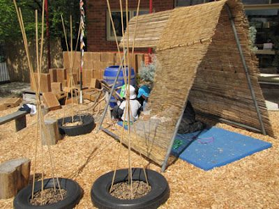 play based learning---cubby building