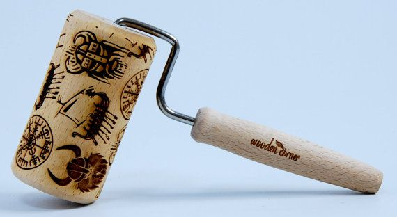 Vikings Viking THOR Scandinavian PATTERN MIDI by ArtWoodenCorner