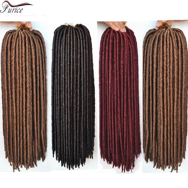 "Popular Long 14"" Crochet Braids Faux Locs Colored Locks of Hair Cheap Heat Resistant Dreads Sinteticos Synthetic Strands"