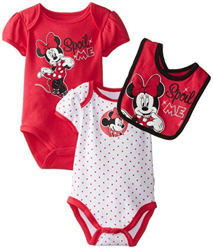 1e9cb4040743 Disney Baby Girls Newborn Minnie Mouse 3 Piece Set