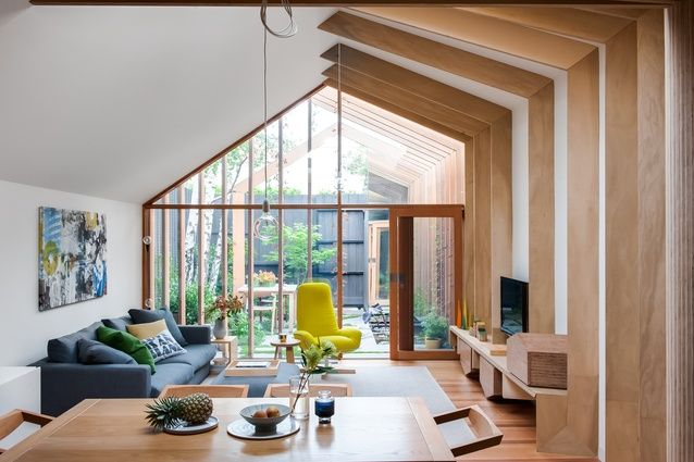 """Inspired by a tapestry of English cottages, FMD Architects sews a new extension onto a 19th century terrace that recreates """"an idyllic bucolic vibe."""""""