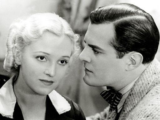 Finnish actors Ansa Ikonen and Tauno Palo, in Jumalan Tuomio, 1939.