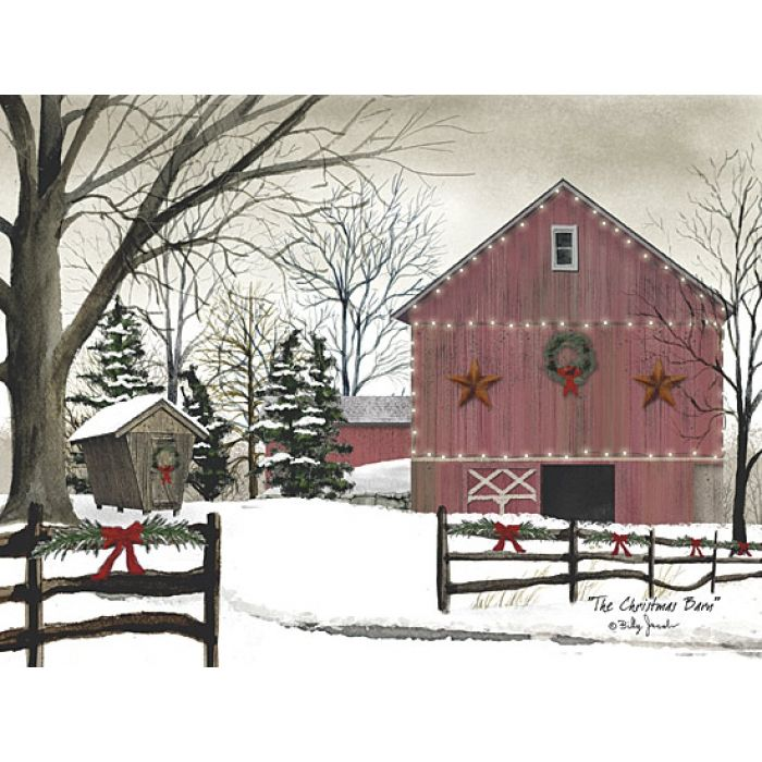 Christmas Barn--Billy Jacobs. I wish this was the view from my back door