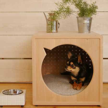 Dog House - So well done, that it makes for a fine furniture accessory.