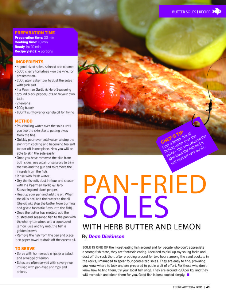 "We're taking a look back at 2014 – a truly great year of #RSD! Dean Dickinson reckoned that ""good fish is best cooked simply"" back in February. This pan-fried soles with herb butter and lemon recipe proved that mantra and had a whole bunch of #RSD readers very impressed with our resident fish chef!"