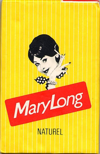 Mary Long Naturel cigarette packaging    (Duty Free Switzerland, 1980's)